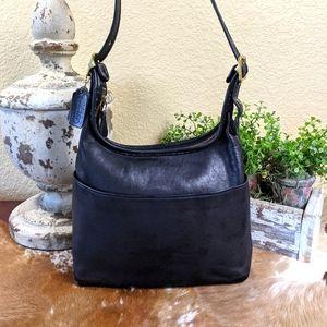 Vtg Coach Legacy Hobo Black Shoulder Bag 9058